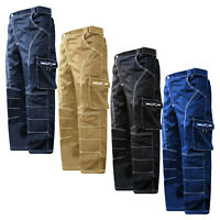"Work Wear Cargo Trousers Working Pants Combat Waist 28""- 62""  Knee Padded"