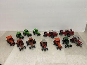 12 Vtg Diecast Tractors Ertl MF Massey Deutz Allis White Allis Chalmers Hesston