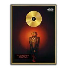 Young Thug Poster, Barter 6 GOLD/PLATINIUM CD, gerahmtes Poster HipHop Rap Art