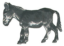 4 wholesale lead free pewter donkey figurines F6027