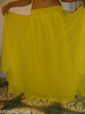 GONNA SKIRT  DANZA DEL VENTRE BELLY DANCE giallo limone