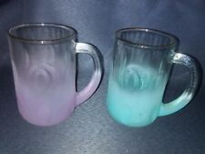 bc9e076a9b7 VINTAGE Mid Century 1960 S BLENDO FROSTED GLASS beer MUGS -EXC