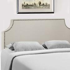 Headboard Fabric Upholstered Full/Queen Size Headboard With Modern Linen Tufted