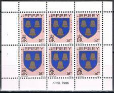 Jersey 1981 3 blaadjes uit Pb - 3 panes 244+252+267 apr 1986 cat waarde € 7