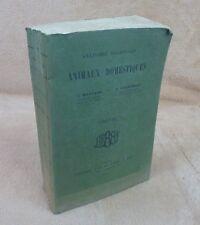 ANATOMIE REGIONALE DES ANIMAUX DOMESTIQUES 1 CHEVAL - MONTANE BOURDELLE - 1913