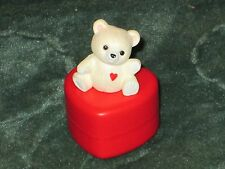 Hallmark Merry Miniature 1985 Teddy Bear - Container - Valentine - NEW