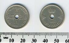 Norway 1948 - 50 Ore Copper-Nickel Coin - Crowned monograms form cross - Error
