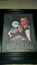 Scrooged Bill Murray Rare Original Promo Poster Ad Framed!