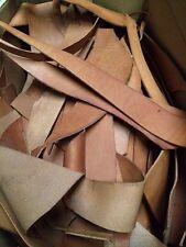 1kg bag premium italian leather offcuts - TAN. 3.5mm, veg tanned