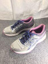 ASICS Gel-Contend 4 Womens Size 8 Running Shoes Gray/Blue/Purple VGC!