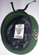 Béret Vert avec insigne TAP PARA 2°REP LÉGION ÉTRANGÈRE Taille * Size M / TT 55