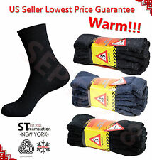 Men's Super Warm Heavy Duty Thermal Merino Wool Winter Work Socks ONE SIZE