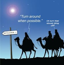 Merry Christmas Card with Three Wise Men -Funny Christmas Card -Xmas Card -Tech