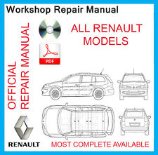 WORKSHOP SERVICE MANUAL FOR ALL RENAULT CARS 1988-2012.CLIO,LAGUNA,SCENIC...ETC