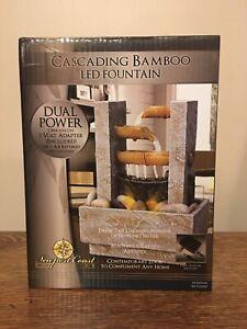 Cascading Bamboo LED Tabletop Fountain Newport Coast Collection