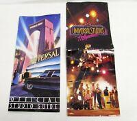 2 Vintage Universal Studios Florida Park Brochures 1980s Hollywood Maps Souvenir