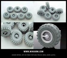Miniarm 1:35 Wheel for 6X6 Truck URAL 4320 ID-P248 6pc + Extra Resin #B35048