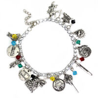 Game Of Thrones Inspired Charm Bracelet Bangle Sliver Plated Jewelry Gift US