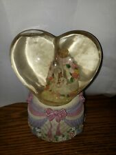 Vintage Heart Shaped Musical Snow Globe The Hills Are Alive, from Sound Of Music