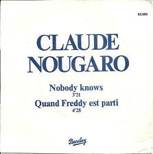 "Claude Nougaro - Nobody knows (7"") promo 1978 France"