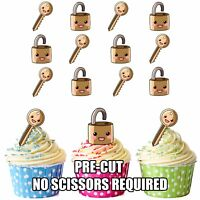 Lock And Key Themed Cake Toppers Precut Edible Wafer Party Decorations