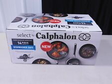 CALPHALON CLASSIC NONSTICK HARD-ANODIZED 14-PC COOKWARE SET -(EBT4)