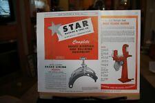 Star Machine & Tool Co Minneapolis MN Brake Equipment etc Brochure AD 1940's