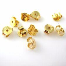 22K Gold plated 925 Sterling Silver Butterfly Earring Post Back Earnuts 10 pcs