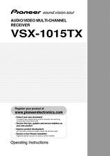 Pioneer VSX-1015TX Receiver Owners Manual