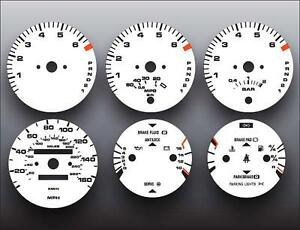 1986-1991 Porsche 944 Automatic Dash Instrument Cluster White Face Gauges