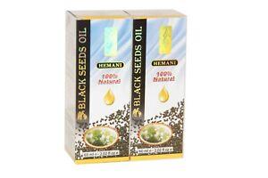 2 X Hemani Black Seed Oil (Kalonji) 60 ML , Nigella Sativa, 100% Natural