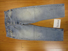 used Levis 501 destroyed feathered grunge jean tag 36x32 meas 33x28.5 16242F