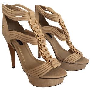 High Heel Sandale Sandalette beige Größe 40+41 NEU