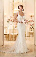 New Backless Mermaid Wedding Dress Bridal Gown Custom Size 2 4 6 8 10 12 14 16+