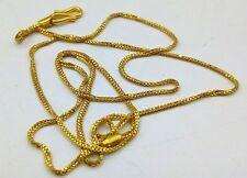 22 CARAT YELLOW GOLD BOX CHAIN UNISEX JEWELRY DESIGN FOR GIRLS WOMEN MEN'S