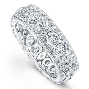 NEW ~ BEVERLEY K ~ 14K White Gold and .84 TCW Diamond ETERNITY Band Ring $4400