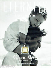 PUBLICITE ADVERTISING 046  1994   Calvin Klein  eau de toilette homme Eternity