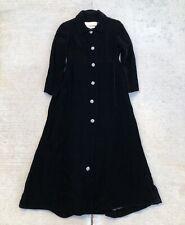 Vintage 60s Malcolm Starr Black Velvet Coat Jacket Dress