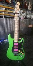 Lime green Floyd Rose Fender stratocaster FR relic guitar