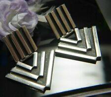 """VINTAGE Arrow 1 3/4"""" Dangling STURDY 0.925 Sterling Silver Post Earrings"""