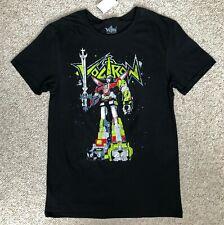 new$20 Voltron T-Shirt black retro defender of the universe adult Mens Sm & Med