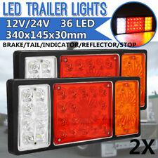 2x 12/24V LED Trailer Stop Turn Tail Brake Lights Indicator Caravan Van RV Truck