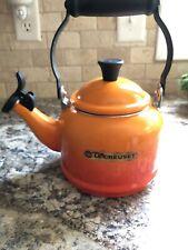 Le Creuset tea kettle Orange & Red fade