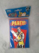 Rare WWF HULK HOGAN Birthday Invitation 1991, WWF HASBRO, WWF LJN