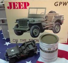 Pot 1 kg peinture US Olive Drab 1936/44 Jeep Dodge Gmc Harley Scout Half Willys