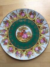 "1940's J.K CARLSBAD DRESDEN GERMANY LOVE SCENES PORTRAIT 11"" PLATE CHARGER"