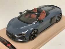 1/18 GT Spirit Audi R8 Spyder in Grey  GT256 on Alcantara custom Base