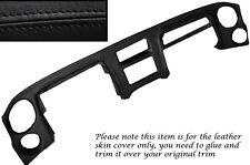 Negro Stitch Dash Dashboard Leather piel cubierta encaja Toyota Mr2 Mk1 aw11 84-90