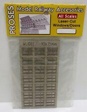 Proses W-011 - Laser Cut Door, Windows Structures - 4 Pane, Square Windows