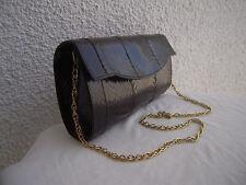 Superbe sac à main  de soirée  en Cuir réptile  TBEG Authentique  & vintage Bag